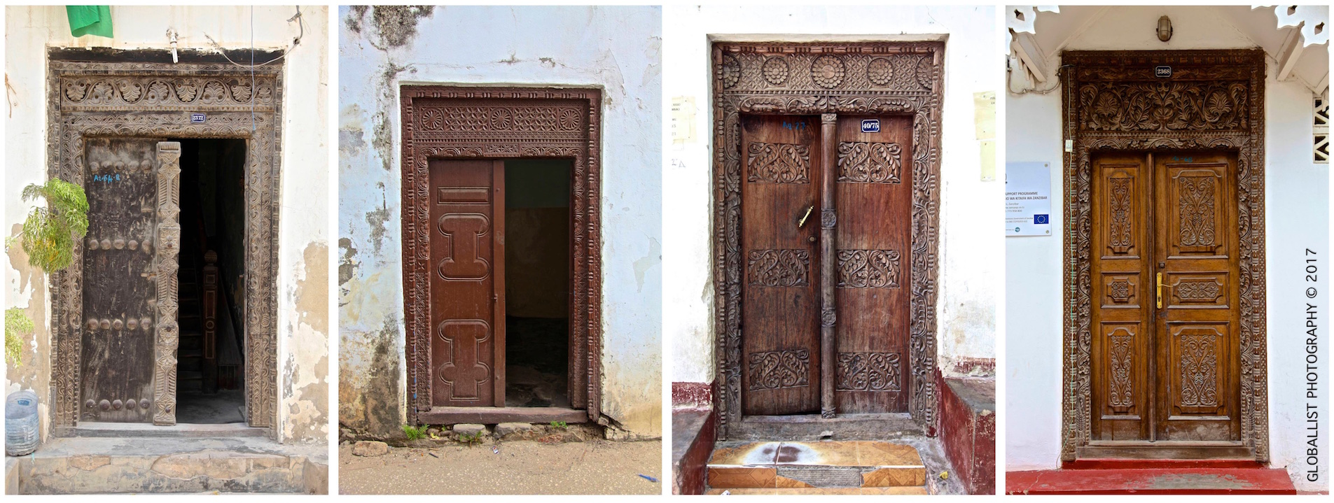 Picture of wooden doors in Stone Town