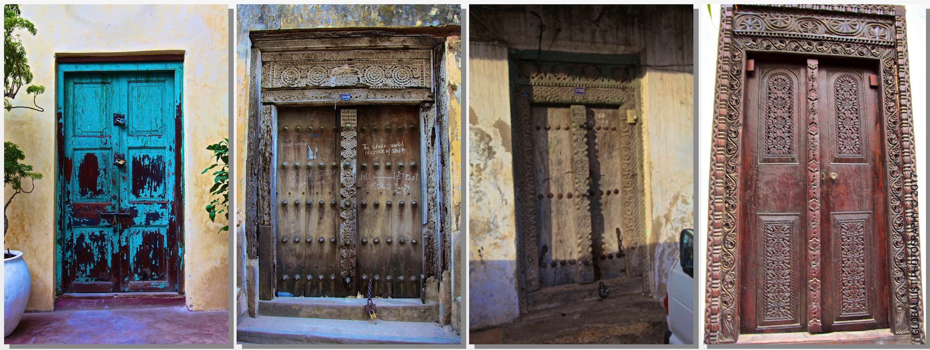Old crafted doors in Africa