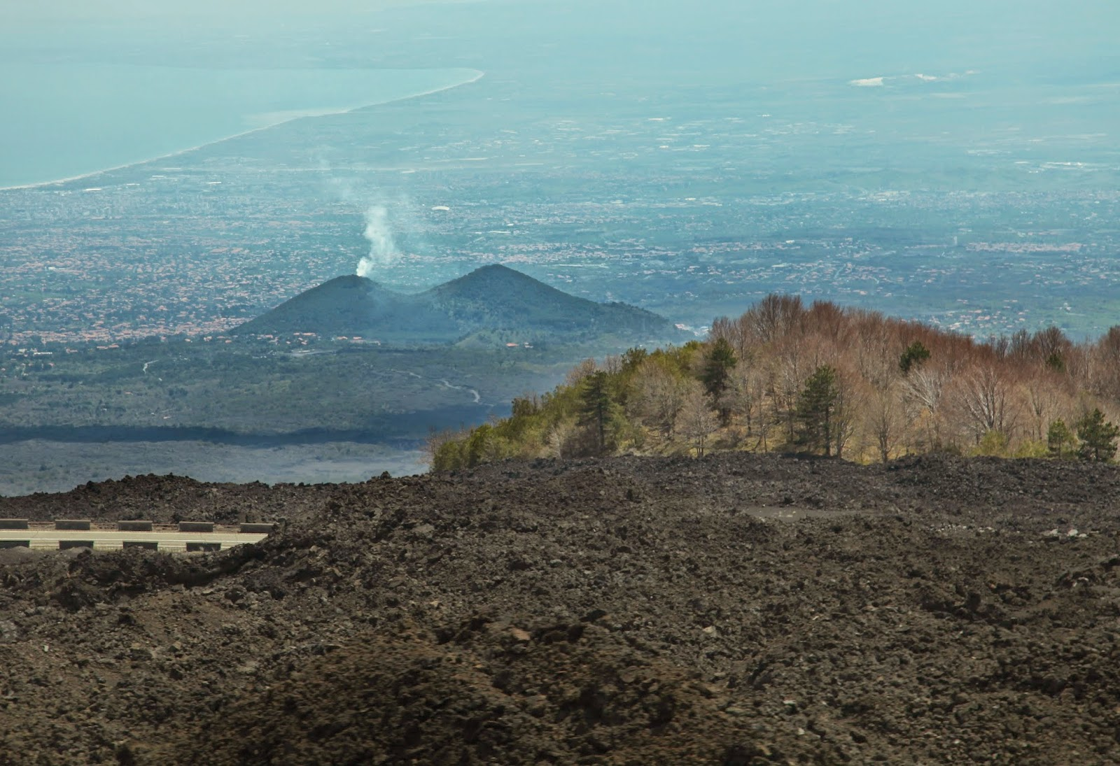 scenery from the Mount Etna